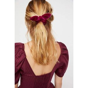 Set of 2 Velvet Bunny Scrunchies Hair tie bundle